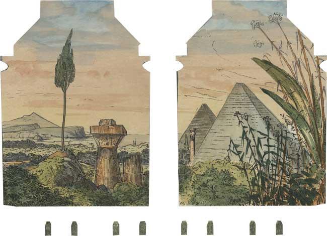 Ägyptische Halle, ausgeschnittener Hintergrund