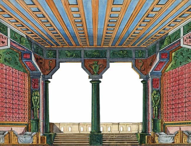 Die ägyptische Halle als Durchsicht.