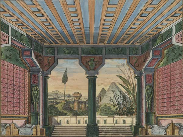 Trentsensky Nr. 34 'Ägyptische Halle - Hintergrund'.