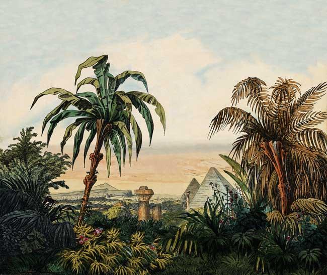Erweiterung des Hintergrunds der ägyptischen Halle