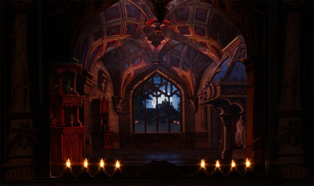Das gotische Zimmer von Scholz mit Hintersetzer